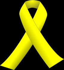 black and yellow ribbon yellow ribbon icons png free png and icons downloads
