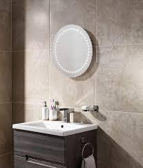 Bathroom Demister Mirror Round 500mm Led Illuminated Bathroom Mirror With If Sensor And