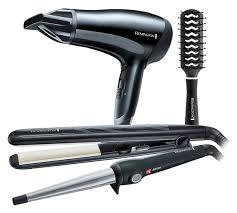 Hair Dryer And Straightener buy remington hair dryer wand straightener brush gift set hair