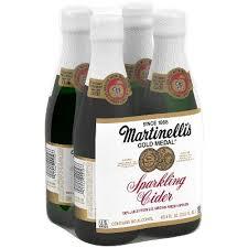sparkling cider in bulk martinelli s sparkling cider 4pk 8 4 fl oz mini glass bottles
