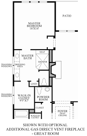 fireplace floor plan hasentree golf villas collection the medford home design