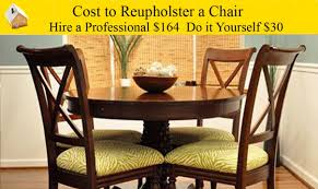 cost to reupholster a chair youtube