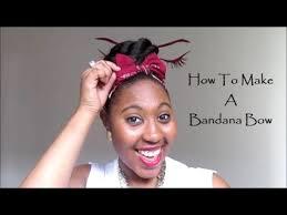 bandana bow how to make a bandana bow