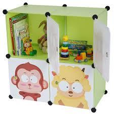 armoire de rangement chambre étagère meuble de rangement chambre enfant 4 compartiments
