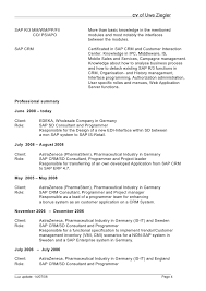 Resume Sample For Programmer by Sap Fi Cv Sample Sap Abap Resume Sample Resume Cv Cover Letter Sap
