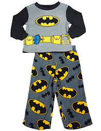 batman boys sleeve fleece batman pajamas grey