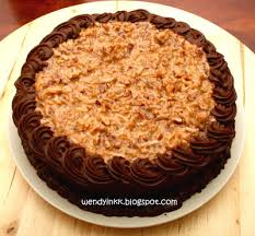 table for 2 or more german chocolate cake