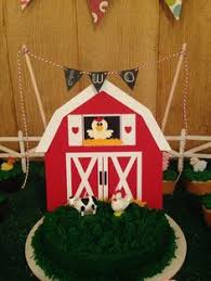 barn cake topper a day at the farm barn cake with animal topper cupcakes my