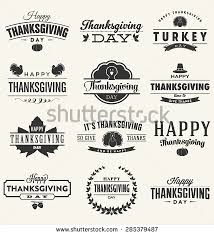 happy thanksgiving day design collection set stock vector