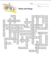matter and change crossword puzzle physical science by amy brown