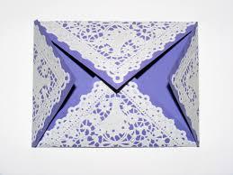 Fold Envelope by Poppyscabin Paper Lace Doily Envelope