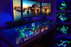 long gaming desk other desk builds u2013 l3p
