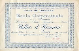 lacoste majuscule lacoste yvonne libourne gironde 1917 3 billets d honneur