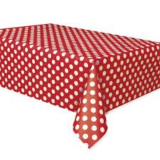 Party Table Covers Ruby Red Polka Dot Plastic Party Table Cover From All You Need