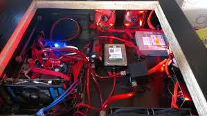 bureau ordinateur intégré modding un pc dans le bureau overclocking made in