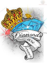 Banner Design Ideas Diamonds Are Forever Banner With Crown Diamond Tattoo Design