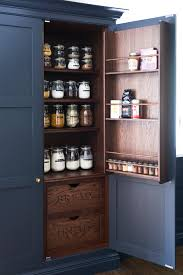 farrow and ball railings painted kitchen pantry with dark stained