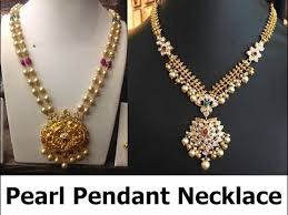 pearl pendant necklace designs