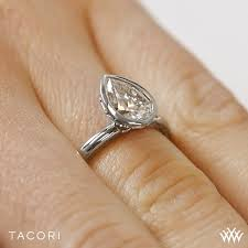 bezel ring tacori 300 2pr 8 5x5 5 starlit pear bezel solitaire engagement