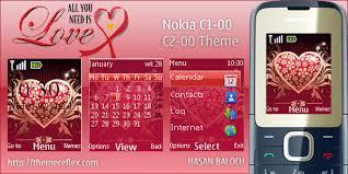 themes nokia c2 mobile love theme for nokia c1 01 c2 00 themereflex