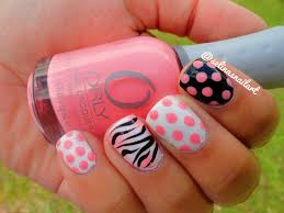 zebra pattern nail art selina s nail art polka dot and zebra print nail art