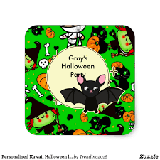 personalized kawaii halloween labels say thank you gift ideas