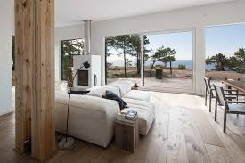 modern log home interiors modern scandinavian log cabin set on a beautiful baltic sea island