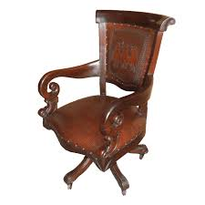 Leather Chairs Office Western Office Chair With Posse Tooled Leather