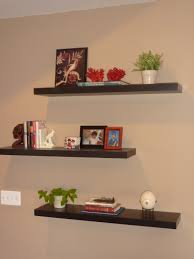Staggered Bookshelves by Decorating Floating Shelves Home Planning Ideas 2017