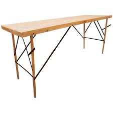 modern folding table 1930s industrial wallpaper hangers folding table or desk