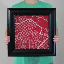 Santa Clara University Map Santa Clara University Campus Map Art City Prints