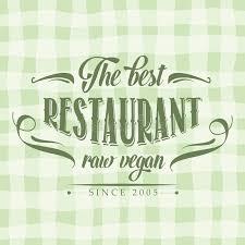 affiche cuisine retro rétro affiche crue de restaurant de vegan illustration de vecteur