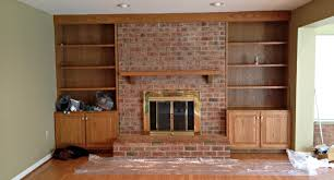 decor intrigue floor to ceiling brick fireplace makeover