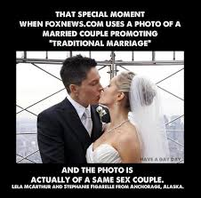 Traditional Marriage Meme - fox news endorses straight marriage falls into a gay marriage by