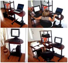 Small Portable Computer Desk S 003 32 Sit Stand Height Adjustable Computer Desk
