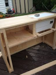 bench bench cooler diy outdoor bar built in cooler bench plan