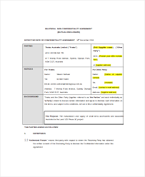 non disclosure and confidentiality agreement templates download