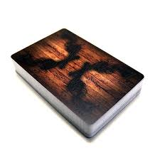 wooden deck of cards ckie