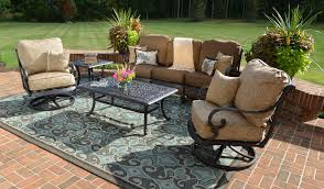 5 patio set home design glamorous patio set with swivel chairs the amalia