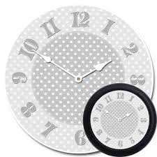 gray dotted swiss clock the big clock store