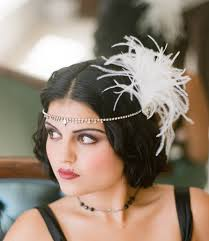 veils inspiration 1920s fascinator feathers flapper forehead