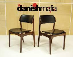 mid century danish modern rosewood erik buck dining lounge side