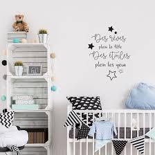 autocollant chambre bébé sticker pharses pour chambre enfant avec des étoiles décorécébo