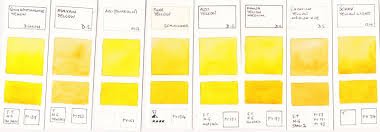 jane blundell watercolour comparisons 2 mid yellows art