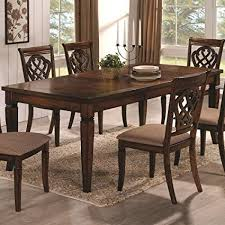 Dining Table Oak Coaster Home Furnishings Transitional Dining Table