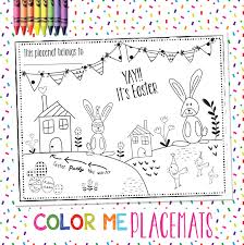 kids placemats easter printables wall kid placemats freebies alesha