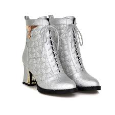 womens boots size 12 cheap fashion combat boots white black pink silver ankle