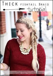 thick fishtail braid tutorial twist me pretty