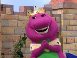 image king barney singing jpg barney wiki fandom powered