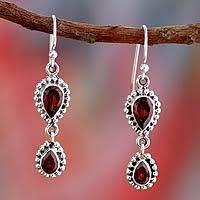 garnet earrings garnet dangle earrings garnet earrings at novica
